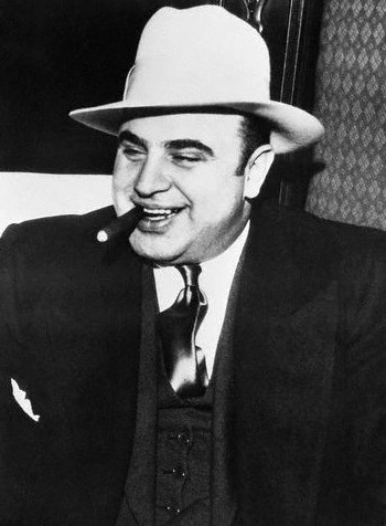 Al Capone is best known by his nickname Scarface