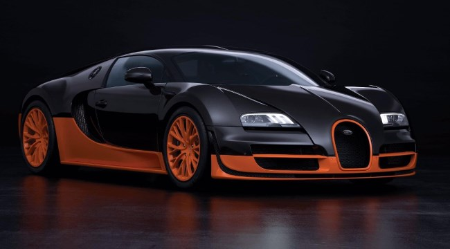 The Bugatti Veyron Super Sport was the world's fastest production car in 2010