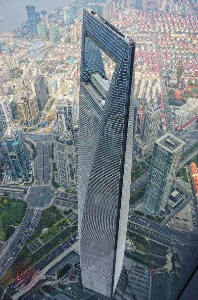 The Shanghai Tower has fastest elevators in a building.