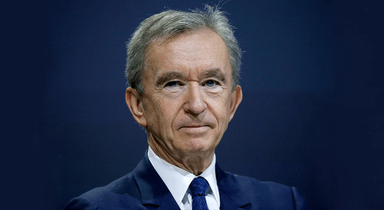 Bernard Arnault is the CEO of Louis Vitton Moet Hennessey and his net worth currently stands at $93.9 billion.
