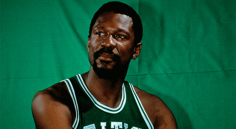 Bill Russell led the team to 11 NBA championships