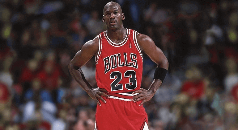 Michael Jordan, one of the most famous NBA players