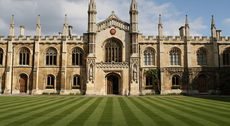 The University of Cambridge utilizes a collegiate system